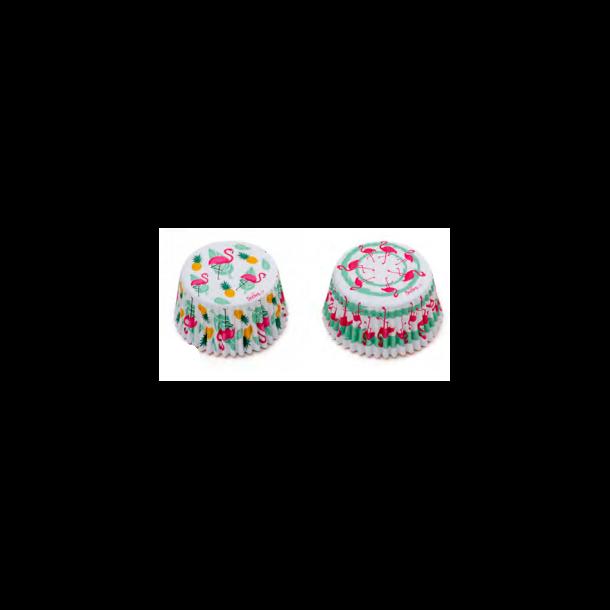 Cupcake papirforme med Flamingo 36 stk