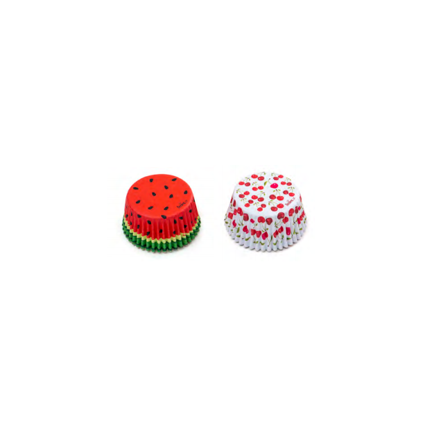 Cupcake papirforme med Vandmelon og Kirsebær 36 stk