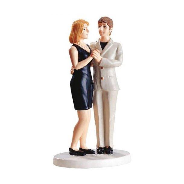 Kvinde- Kvinde med kort kjole Bryllupsfigur 15cm