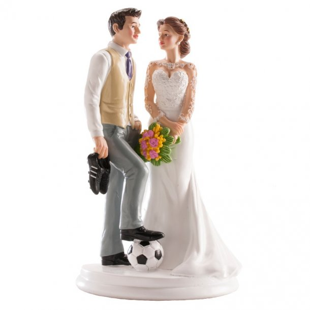 Fodbold brudepar 18cm
