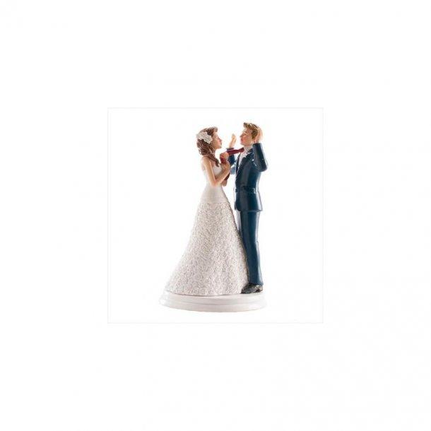 Brudepar - hænderne op - 20cm