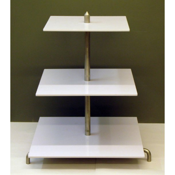 Kvadratisk Elegance Stativ 3 etager