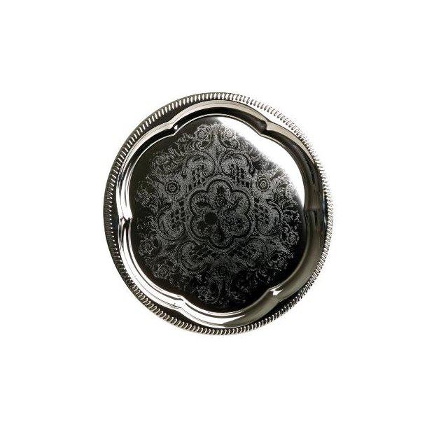 Serveringsfad Ø35cm sølvblik