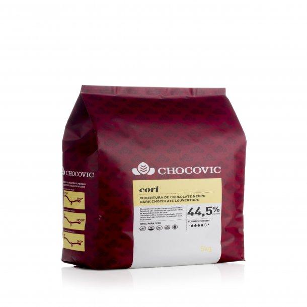 Cori 44,5% mørke chokolade knapper BAGESTABIL 1,5kg -