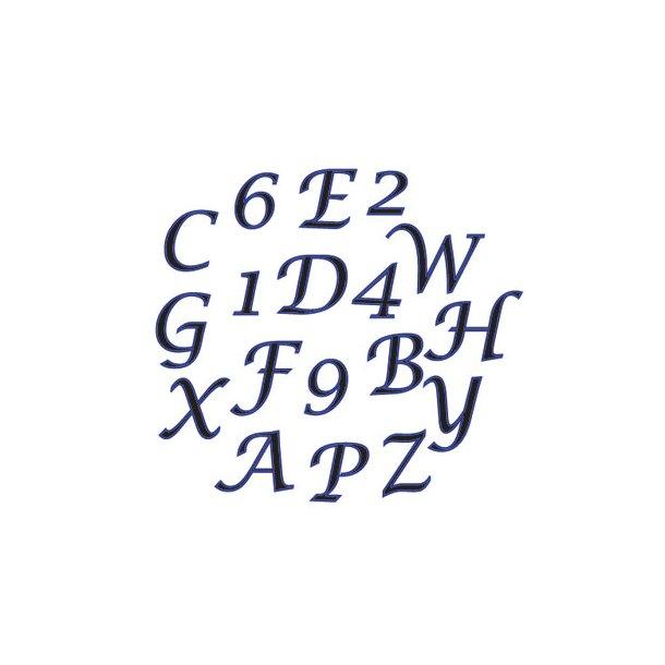 Skråt Alfabet og tal