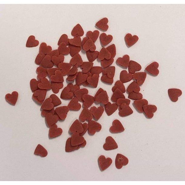 Røde sukkerhjerter 50g