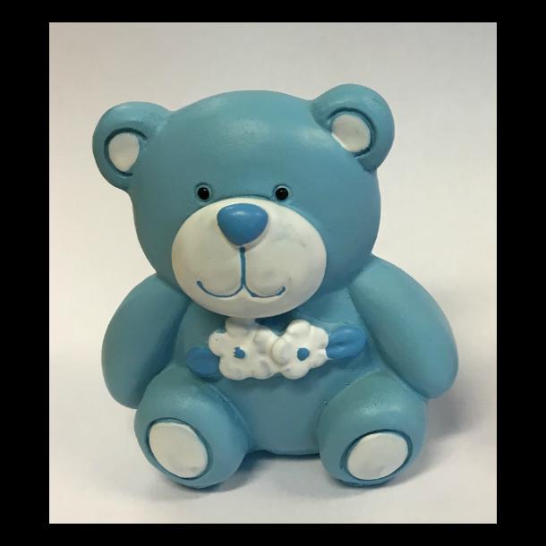 Blå bamse - H65mm