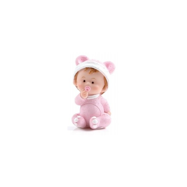 Baby pige holder sutten - H8cm