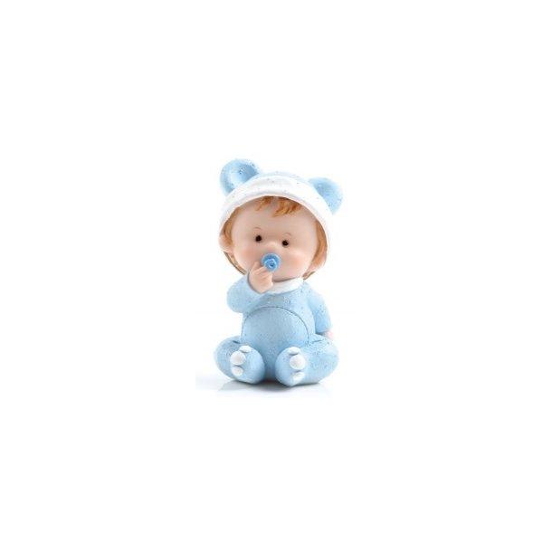 Baby dreng holder sutten - H8cm