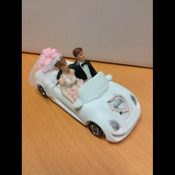 Brudepar i sportsvogn - 14 cm