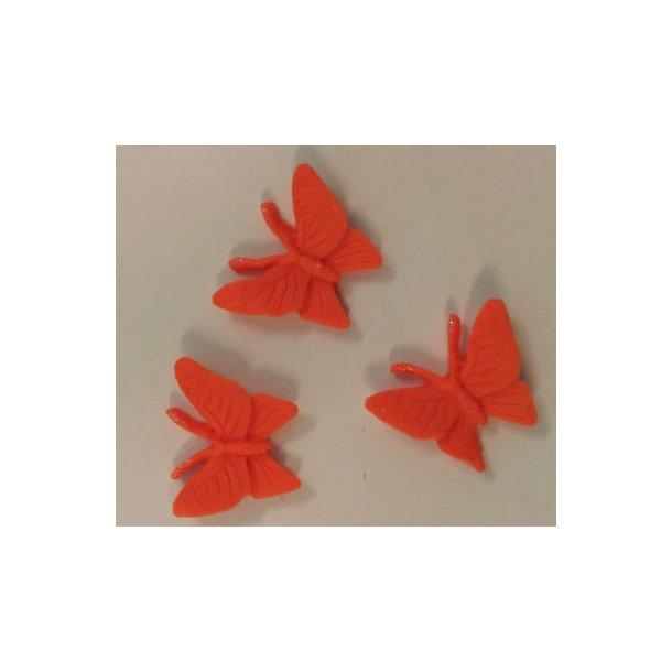 Sommerfugle i dekorfondant - Orange 3 stk.