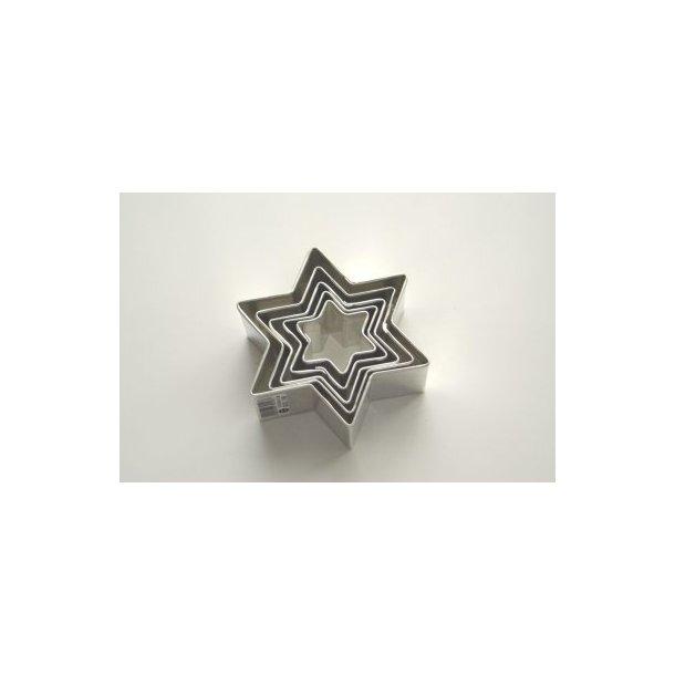 Stjernersæt 5 dele fra 2-6 cm