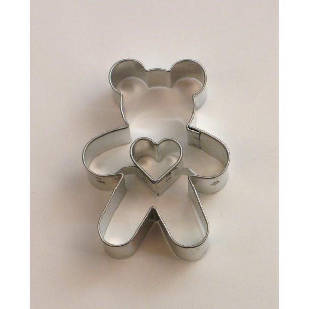 Bamse med hjerte 5,2 cm