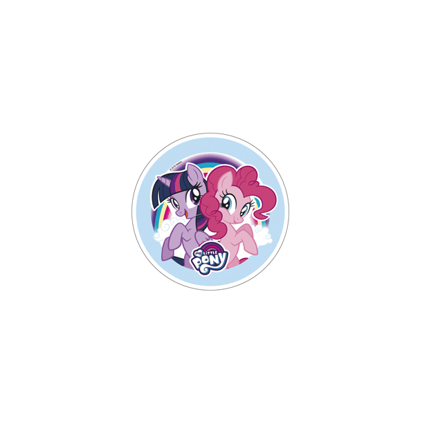 My Little Pony - Twilight Sparkle og Pinkie Pie - Ø21cm