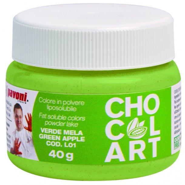 Æblegrøn fedtopløselig pulverfarve 40g