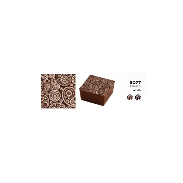 Chokolade Transfer sheets med Paisley mønster 25*40cm