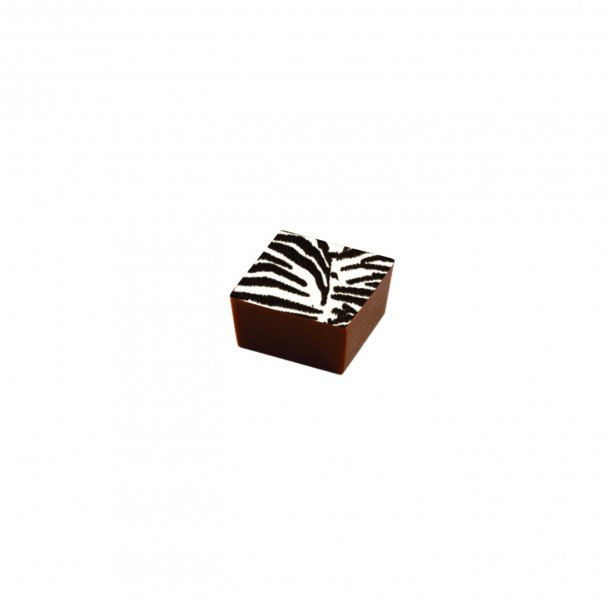 Chokolade Transfer sheet Zebra mønster 26*32cm