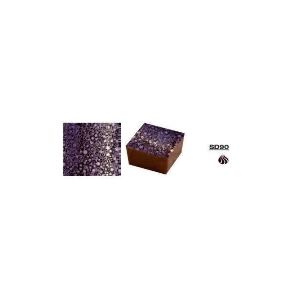 Chokolade Transfer sheets med lilla snirkler 25*40cm