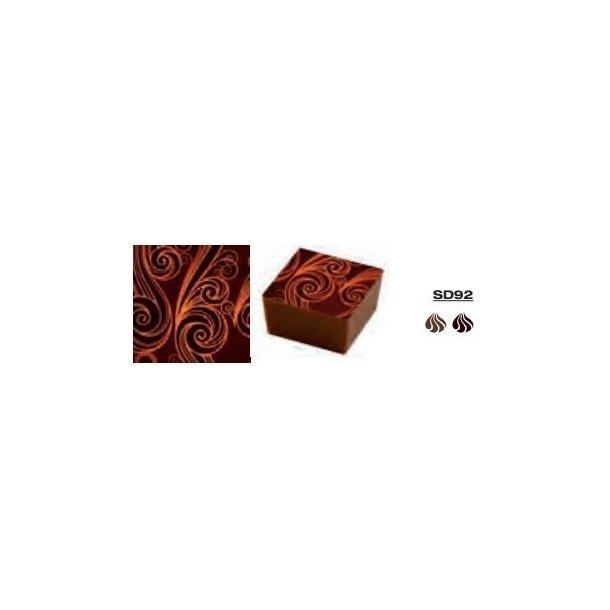 Chokolade Transfer Sheets guld motiv 25*40cm