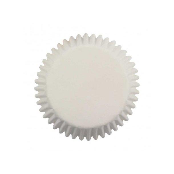 Cupcake papirforme Mini hvid 100 stk