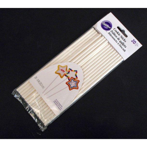 Kagestøttepinde/slikkepinde 20 cm / 20 stk