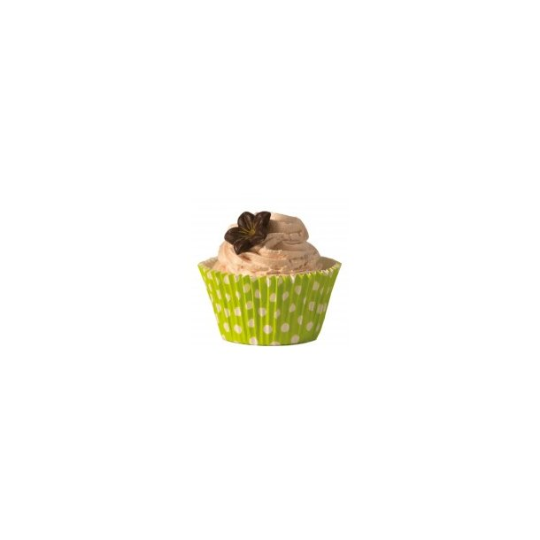Cupcake papforme Maxi Grøn Med Polka Prikker 24 stk.