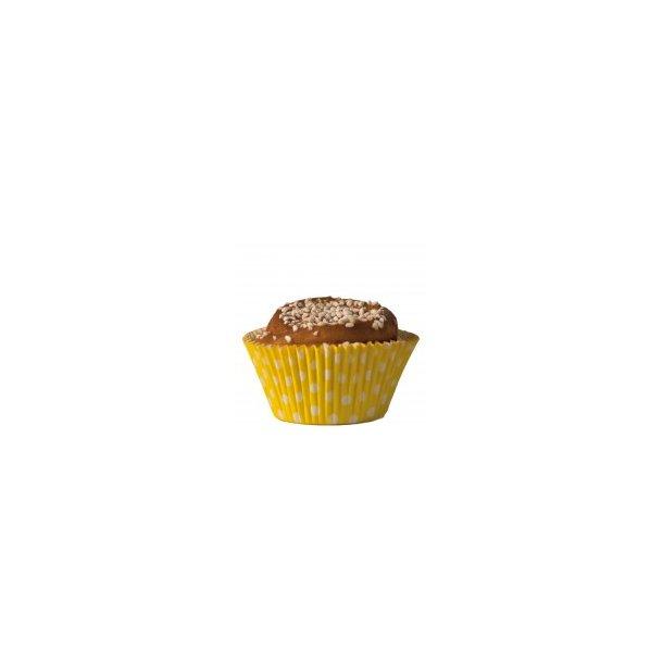 Cupcake papforme Maxi Gul Med Polka Prikker 24 stk.