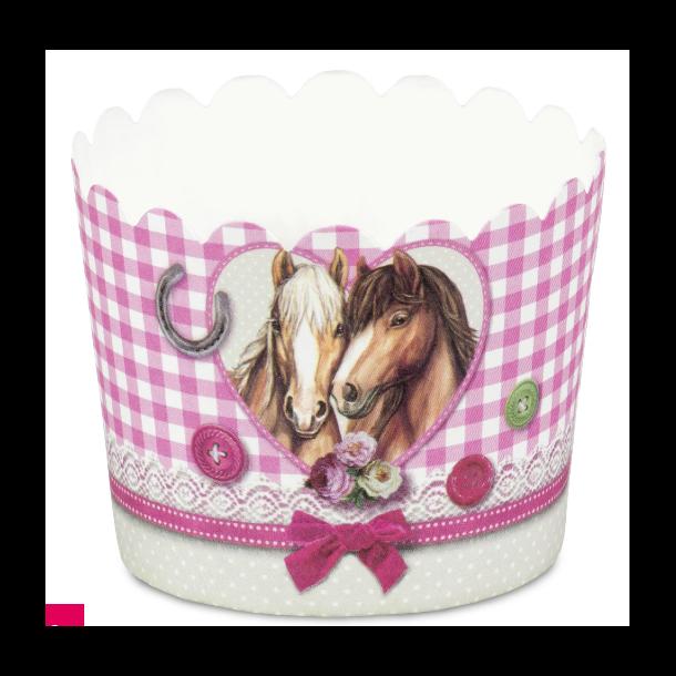 Cupcake papirforme med heste 12 stk