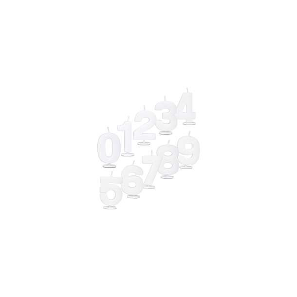 Hvidt Tal lys - 1