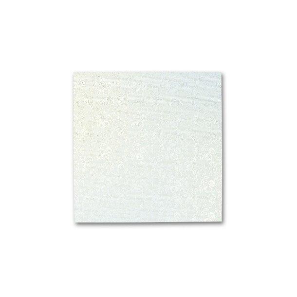 Kvadratiske karton kageplader 3mm tykke hvide
