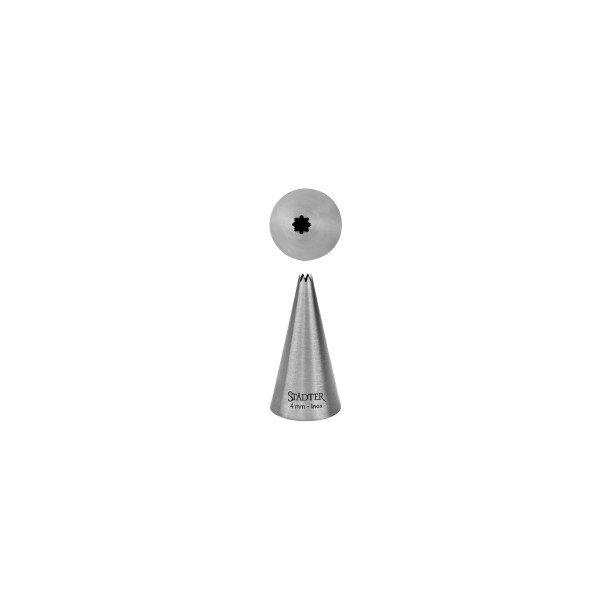 Fine Line stjerne 9 mm stor tyl i rustfrit stål