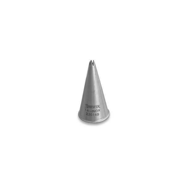 Fine Line stjerne 3 mm lille tyl i rustfrit stål