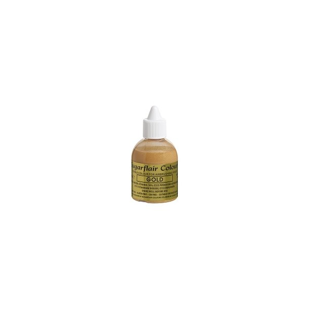 Sugarflair Airbrushfarve Guld Glitter 60ml