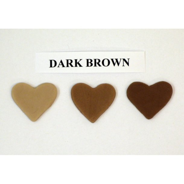 Dark brown pastafarve 25g