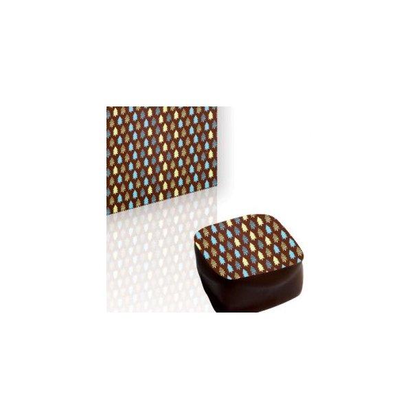 Chokolade Transfer sheet grønne Juletræer 25*40cm